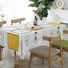 رخيصةأون شرشفات الطاولة-معاصر قطن مربع قماش الطاولة هندسي الجدول ديكورات 1 pcs