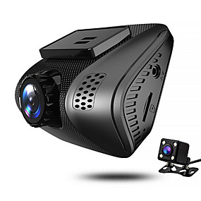 hesapli DVR samochodowe-JUEFAN J3 720p / 1080p Gece görüşü Araba DVR'si 140 Derece Geniş açı 2 inç Dash Cam ile Hareket Algılama 4 kızıl ötesi LEDler Araba Kaydedici / 2.0