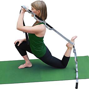 olcso Sport & fitnesz-Jóga Strap Pamut Sztreccs Tartós Állítható D-gyűrűs pánt Fizikoterápia nyújtás Növelje rugalmasságát Jóga Pilates Fitnessz mert