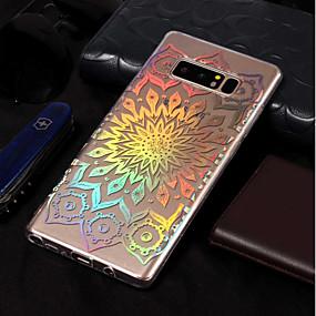 Недорогие Чехлы и кейсы для Galaxy Note 8-Кейс для Назначение SSamsung Galaxy Note 8 Покрытие / С узором Кейс на заднюю панель Цветы Мягкий ТПУ