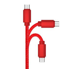 levne Mi Play-Micro USB Kabel 1m-1.99m / 3ft-6ft Rychlé nabíjení slitina zinku Adaptér kabelu USB Pro Samsung / Huawei / LG