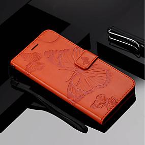 Недорогие Чехлы и кейсы для Huawei Mate-Кейс для Назначение Huawei Mate 10 / Mate 10 pro / Mate 10 lite Кошелек / Бумажник для карт / со стендом Чехол Бабочка Твердый Кожа PU