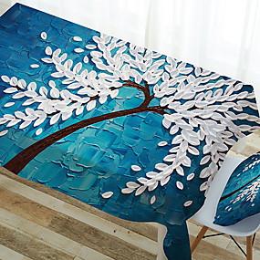 رخيصةأون شرشفات الطاولة-معاصر مربع قماش الطاولة ورد هندسي الجدول ديكورات 1 pcs