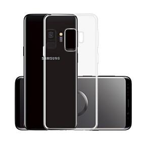 olcso Napi akciók-Case Kompatibilitás Samsung Galaxy S9 Átlátszó Fekete tok Egyszínű Puha TPU