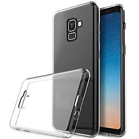 olcso Napi akciók-Case Kompatibilitás Samsung Galaxy Galaxy A7(2018) Átlátszó Fekete tok Egyszínű Puha TPU
