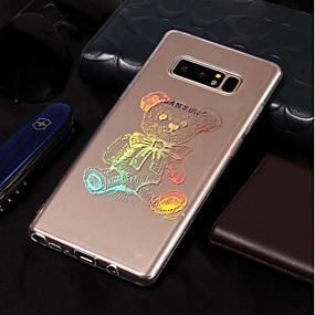 Недорогие Чехлы и кейсы для Galaxy Note 8-Кейс для Назначение SSamsung Galaxy Note 8 Покрытие / С узором Кейс на заднюю панель Животное Мягкий ТПУ