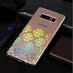 Недорогие Чехлы и кейсы для Galaxy Note 8-Кейс для Назначение SSamsung Galaxy Note 8 Покрытие / С узором Кейс на заднюю панель Кружева Печать Мягкий ТПУ