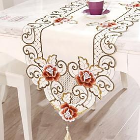 رخيصةأون المطبخ و السفرة-معاصر PVC مربع قماش الطاولة ورد الجدول ديكورات 1 pcs