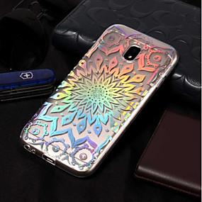 voordelige Galaxy J3 Hoesjes / covers-hoesje Voor Samsung Galaxy J7 (2017) / J7 (2016) / J7 Beplating / Patroon Achterkant Bloem Zacht TPU