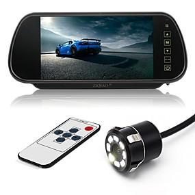 voordelige Auto-elektronica-ziqiao 7 inch kleuren tft lcd auto achteruitkijkspiegel monitor en 8 led ccd hd waterdichte auto achteruitrijcamera