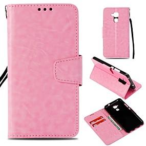 Недорогие Чехлы и кейсы для Huawei Honor-Кейс для Назначение Huawei Honor 7X / Honor 7C(Enjoy 8) / Honor 6X Кошелек / Бумажник для карт / Магнитный Чехол Однотонный Твердый Кожа PU