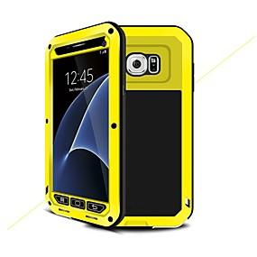 رخيصةأون Galaxy S5 أغطية / كفرات-غطاء من أجل Samsung Galaxy S7 / S6 / S5 ضد الصدمات / مقاوم للماء / درع غطاء كامل للجسم درع قاسي معدن