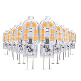 رخيصةأون مصابيح ليد ثنائية-YWXLIGHT® 10pcs 3 W أضواء LED Bi Pin 200-300 lm G4 T 12 الخرز LED SMD 2835 أبيض دافئ أبيض كول أبيض طبيعي 12 V