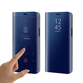 voordelige Galaxy S7 Hoesjes / covers-hoesje Voor Samsung Galaxy S9 / S9 Plus / S8 Plus Beplating / Spiegel / Flip Volledig hoesje Effen Hard Siliconen