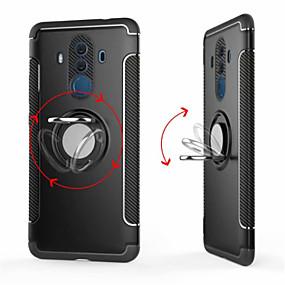Недорогие Чехлы и кейсы для Huawei Mate-Кейс для Назначение Huawei Mate 10 / Mate 10 pro / Mate 10 lite Кольца-держатели Кейс на заднюю панель Однотонный Твердый ПК / Mate 9 Pro