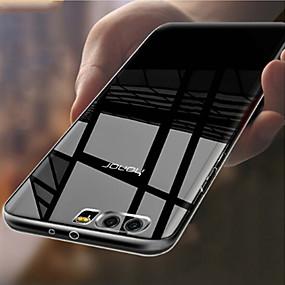 Недорогие Чехлы и кейсы для Huawei Honor-Кейс для Назначение Huawei Honor 9 Прозрачный Кейс на заднюю панель Однотонный Мягкий ТПУ