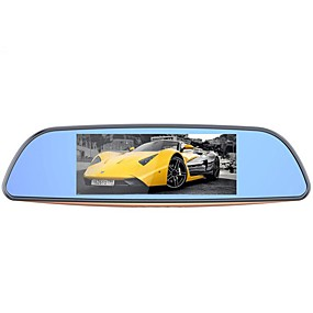 voordelige Auto DVR's-Camlive H2 1080p Nacht Zicht Auto DVR 170 graden Wijde hoek 7 inch(es) Dash Cam met GPS / G-Sensor / Continu-opname Autorecorder / ADAS
