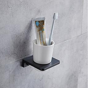 رخيصةأون أدوات الحمام-حاملة فرشاة الأسنان / أغراض الحمام متعددة الوظائف معاصر الالومنيوم 1PC - حمام مثبت على الحائط