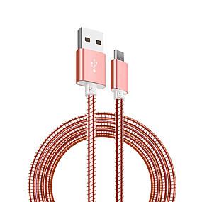 levne Xiaomi-Micro USB Kabel <1m / 3ft Rychlé nabíjení Nerez Adaptér kabelu USB Pro Samsung / Huawei / Nokia