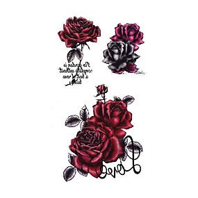 رخيصةأون وشم مؤقت-3 pcs ملصقات الوشم الوشم المؤقت سلسلة الزهور / سلسلة رومانسية الفنون الجسم ذراع