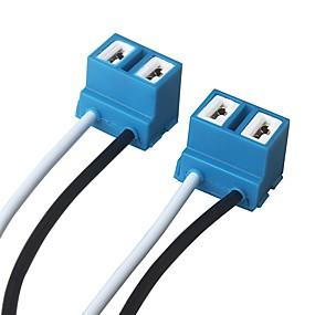 voordelige Schakelaars-ziqiao 2 stks h7 koplamp lamp stopcontact keramische lampvoet auto connector plug - kleur willekeurig