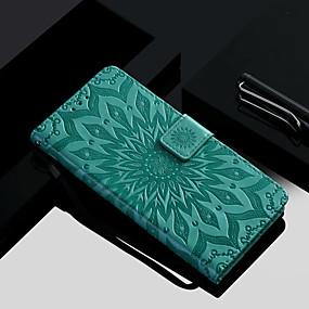 Недорогие Чехлы и кейсы для Huawei Honor-Кейс для Назначение Huawei Huawei Honor 10 / Honor 9 / Honor 8 Кошелек / Бумажник для карт / со стендом Чехол Цветы Твердый Кожа PU