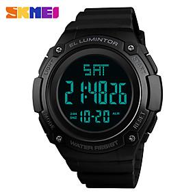Недорогие Фирменные часы-SKMEI Муж. Спортивные часы электронные часы Цифровой силиконовый Черный 30 m Защита от влаги Календарь Фосфоресцирующий Цифровой На каждый день Мода - Серый Зеленый Синий Один год Срок службы батареи