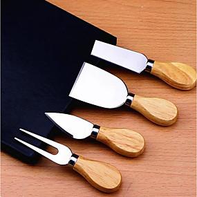 رخيصةأون أدوات & أجهزة المطبخ-ستانلس ستيل قواطع ملعقة الصيدلي أدوات أدوات أدوات المطبخ لالجبن 4PCS