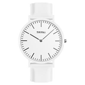 Недорогие Фирменные часы-SKMEI Муж. Наручные часы Кварцевый минималист Защита от влаги силиконовый Черный / Белый / Красный Аналоговый - Белый Черный Красный Один год Срок службы батареи / Японский / Японский