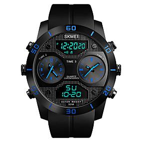 Недорогие Фирменные часы-SKMEI Муж. Спортивные часы Армейские часы электронные часы Цифровой На каждый день Защита от влаги Стеганная ПУ кожа Черный Аналого-цифровые - Черный Красный Синий Один год Срок службы батареи