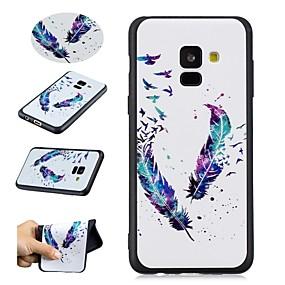 voordelige Galaxy A5(2016) Hoesjes / covers-hoesje Voor Samsung Galaxy A5(2018) / A8 2018 / A5(2016) Patroon Achterkant Veren Zacht TPU