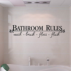 رخيصةأون أدوات الحمام-ملصقات وأشرطة / ملصقات الحمام بسيط / ضد الماء / اللصق التلقي العادي / الحديثة / المعاصرة PVC 1PC ديكور الحمام