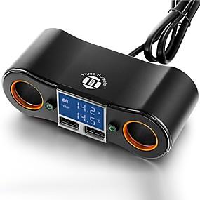 Недорогие Автомобильные зарядные устройства-Автомобиль Автомобиль USB зарядное гнездо 2 USB порта для 5 V