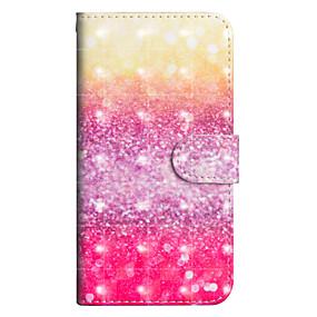 voordelige Galaxy J5(2017) Hoesjes / covers-hoesje Voor Samsung Galaxy J7 (2017) / J6 / J5 (2017) Portemonnee / Kaarthouder / met standaard Volledig hoesje Kleurgradatie Hard PU-nahka
