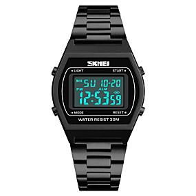 Недорогие Фирменные часы-SKMEI Муж. Спортивные часы электронные часы Японский Цифровой Нержавеющая сталь Черный / Синий / Серебристый металл 30 m Защита от влаги Будильник Календарь Цифровой На каждый день Мода -  / Один год