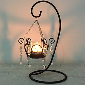 cheap Candles & Candleholders-European Style Iron Candle Holders / Candles Tealight / Candlestick 1pc, Candle / Candle Holder