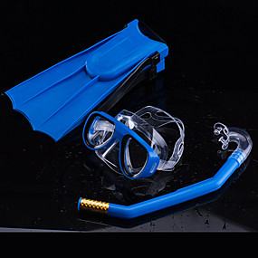 olcso Vízi sportok-Búvárkodás csomagok - Búvármaszk Búváruszonyok Légzőcső - Száraz felsőrész Állítható heveder Anti-Fog Úszás Szabadtüdős merülés Gumi PC  mert Gyerekek