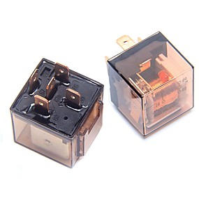 voordelige Schakelaars-ziqiao 2 stks 12 v 4 plug 80a dubbele contact transparante shell relais automotive controle apparaten snelle aansluiting socket type