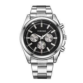 voordelige Merk Horloge-Xu™ Heren Dress horloge Polshorloge Kwarts Zilver Vrijetijdshorloge Grote wijzerplaat Analoog Klassiek Modieus minimalistische - Wit Zwart Een jaar Levensduur Batterij