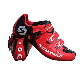 olcso Cipővédő-SIDEBIKE Felnőttek Kerékpáros cipők pedállal és csattal Mountain bike cipők Nejlon Párnázás Kerékpározás Rubin Férfi Biciklis cipők / Szintetikus Mikrorost PU
