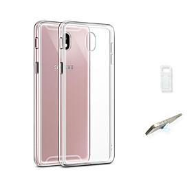 olcso Galaxy J3(2017) tokok-Case Kompatibilitás Samsung Galaxy J3 (2017) Átlátszó Fekete tok Egyszínű Puha TPU