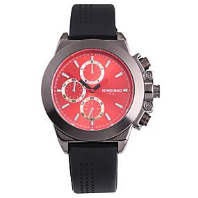 Недорогие Фирменные часы-SHI WEI BAO Муж. Спортивные часы Армейские часы Наручные часы Японский Кварцевый силиконовый Черный Панк Крупный циферблат Аналоговый На каждый день Мода - Черный Красный Синий / Один год / SSUO 377