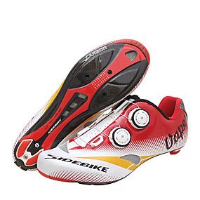 olcso Cipővédő-SIDEBIKE Felnőttek Utcai kerékpár cipők Szénszál Párnázás Kerékpározás Piros / Fehér Férfi Biciklis cipők