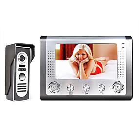 povoljno Video portafoni-mountainone 7 inčni tft video vrata telefon interfon, interfon komplet 1 kamera noćni vid 1 monitor sa hd 700tvl kamerom tft lcd zaslon montiran bez ruku