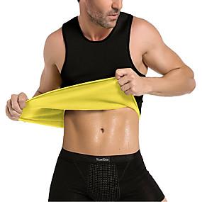 お買い得  エクササイズ、フィットネス-スウェットベスト ウエストトレーナーベスト ネオプレンタンクトップ スポーツ ネオプレン エクササイズ&フィットネス ジムトレーニング ファスナー無し 発汗 痩身 減量 おなかファットバーナー ために 男性