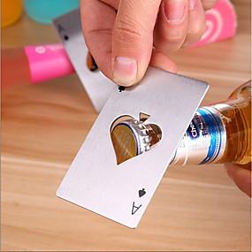 olcso Báros készlet-ász póker palacknyitó rozsdamentes acél játékkártya sör sapka nyitó