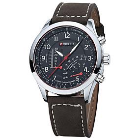 Недорогие Фирменные часы-CURREN Муж. Нарядные часы Часы-браслет Кварцевый Натуральная кожа Черный / Коричневый Защита от влаги Календарь Новый дизайн Аналоговый Классика На каждый день Мода - / Нержавеющая сталь