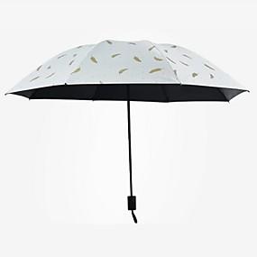 Недорогие Защита от дождя-пластик / Нержавеющая сталь Все Творчество / Новый дизайн Складные зонты