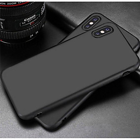 voordelige iPhone 11 Pro Max hoesjes-hoesje Voor Apple iPhone X / iPhone 8 Plus / iPhone 8 Mat Achterkant Effen Zacht TPU