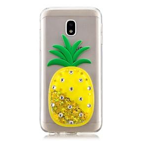 voordelige Galaxy J5(2017) Hoesjes / covers-hoesje Voor Samsung Galaxy J7 Prime / J7 (2017) / J7 (2016) Stromende vloeistof Achterkant Fruit Zacht TPU